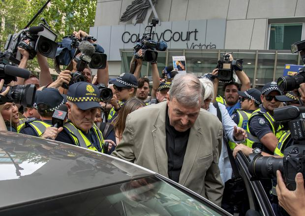 Pell leaves the County Court in Melbourne, Australia, last month (AP Photo/Andy Brownbill, File)