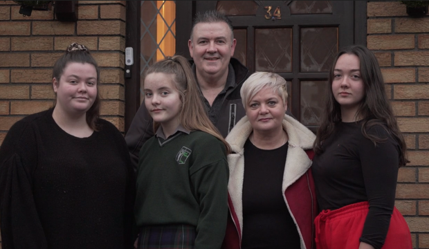 Pat and Paula Twomey, and their children Ava (20), Regan (17), Ella (13) from Clane, Co Kildare