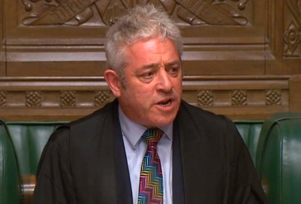 House of Commons Speaker John Bercow. Photo credit: House of Commons/PA Wire