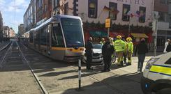 Gardai and members of Dublin Fire Brigade are currently at the scene