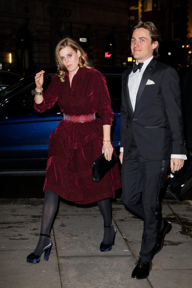 Princess Beatrice and Edoardo Mapelli Mozzi attend the Portrait Gala at National Portrait Gallery on March 12, 2019 in London, England. (Photo by Tristan Fewings/Getty Images)
