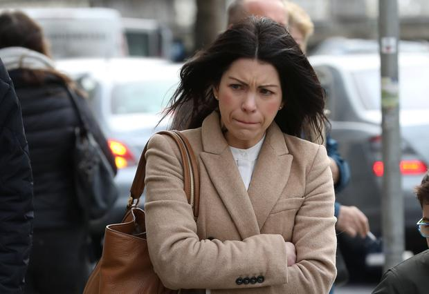 Andrea Geraghty, mother of Cillian, of Airpark Court, Stocking Lane, Rathfarnham, Dublin pictured at the Four Courts for a Circuit Civil Court action.Pic: Collins Courts