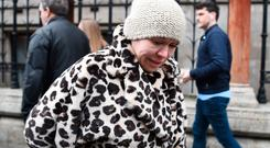 Actress Tina Malone leaves the High Court in London where she avoided jail after she admitted breaching an injunction protecting the identity of James Bulger killer Jon Venables by sharing a post on social media. Photo: Kirsty O'Connor/PA Wire