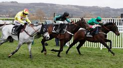 Altior ridden by Nico de Boinville in action before winning the 3.30 Betway Queen Mother Champion Chase Action Images via Reuters/Paul Childs