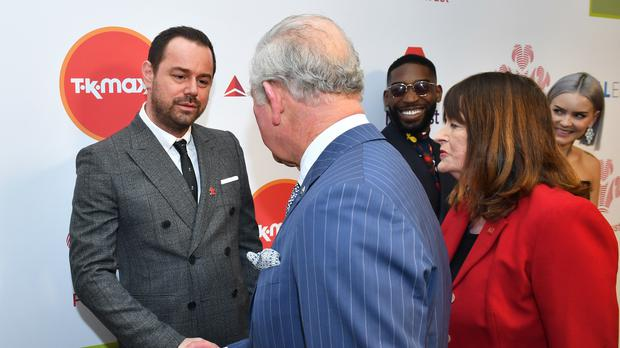 Danny Dyer met the Prince of Wales at the annual Prince's Trust Awards at the London Palladium (Dominic Lipinski/PA)