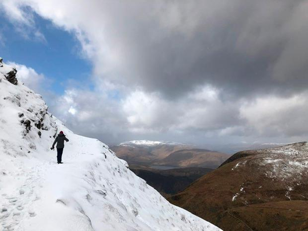 Eoin Donnelly walking on Ben Nevis Credit: Jean Gill