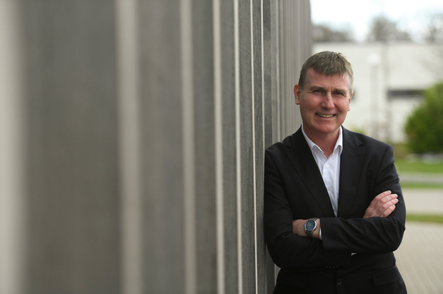 Ireland U-21 manager Stephen Kenny is pictured at Abbotstown after announcing his first squad yesterday. Photo by Piaras Ó Mídheach/Sportsfile