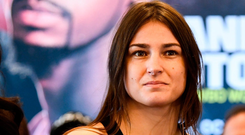 The 34-year old is the fifth-ranked lightweight in the world and is unbeaten in her 14 professional fights. Photo by Stephen McCarthy/Sportsfile