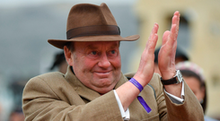 The toll on Nicky Henderson, Altior's trainer, can be measured by the moisture in his eyes, and sometimes by full-blown tears. Photo by Seb Daly/Sportsfile