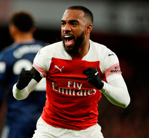 Arsenal's Alexandre Lacazette. Photo: John Sibley/Reuters