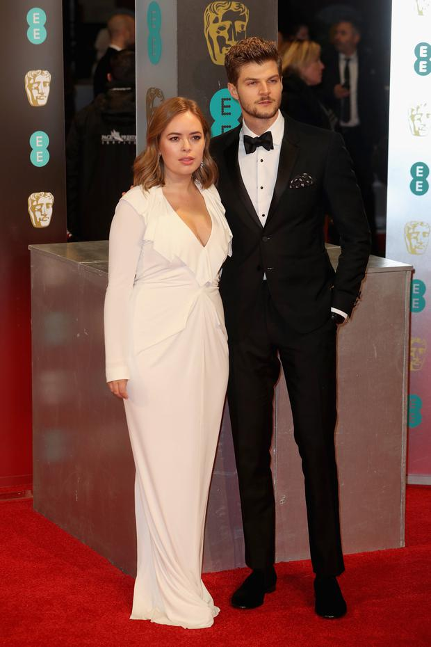 Tanya Burr and Jim Chapman attend the 70th EE British Academy Film Awards (BAFTA) at Royal Albert Hall on February 12, 2017 in London, England. (Photo by Chris Jackson/Getty Images)