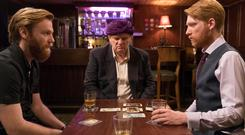 Brendan Gleeson with sons Brian and Domhnall Gleeson in Psychic