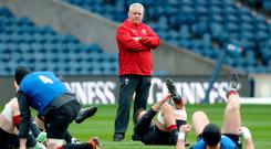 Gatland reckons the key to the game will be getting in the faces of Sexton and Murray. Photo: PA