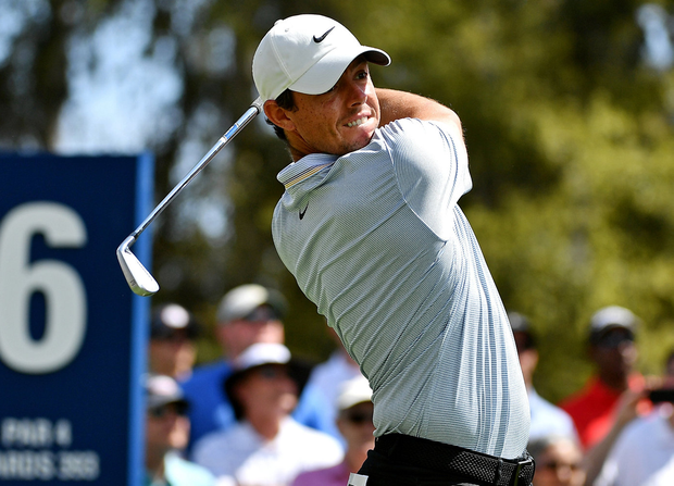 Rory McIlroy plays his shot from the sixth tee during the first round of The Players Championship at TPC Sawgrass.