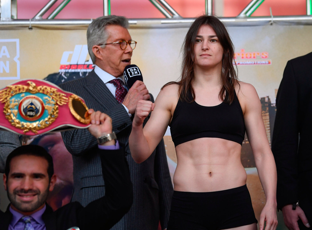 Katie Taylor weighs