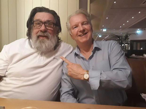 Ricky Tomlinson and journalist Eddie Rowley