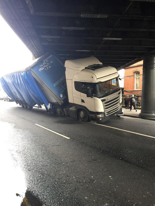 Truck crashed into bridge March 15 , 2019