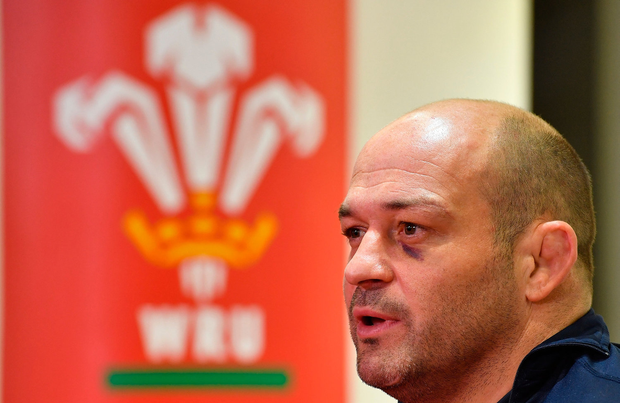 15 March 2019; Captain Rory Best speaks at a press conference after the Ireland rugby captain's run at the Principality Stadium in Cardiff, Wales. Photo by Brendan Moran/Sportsfile