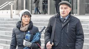 Accused man: Patrick Quirke, with his wife Imelda, outside the Central Criminal Court on Tuesday. Photo: Collins Court
