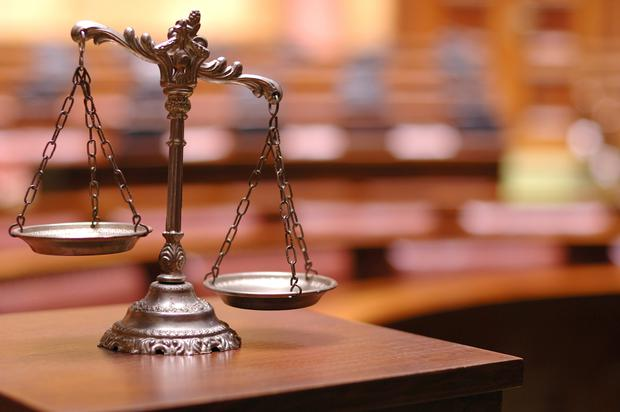 'The judge reminded the jurors that they will decide the case based only on what they hear in court' Stock photo