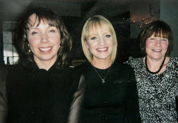 Fighting for the truth: Clodagh Hawe (left) with her sister Jacqueline Connolly and mother Mary Coll (right), whose campaign has led to a review of the case