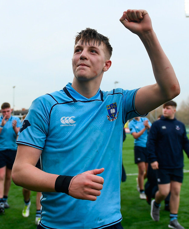 Mark Hernan is part of a magnificent St Michael's College back-row. Photo: David Fitzgerald/Sportsfile
