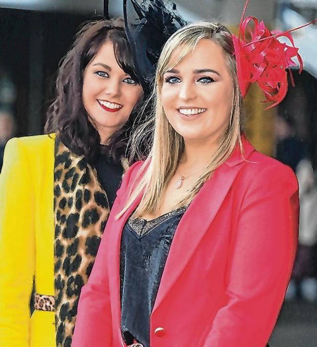Leonie Beirne, from Roscommon, and Hannah Mannell, from Dublin. Photo: Damien Eagers / INM