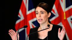 New Zealand Prime Minister Jacinda Ardern speaks to the media after at least 49 people are confirmed dead and more than 40 people injured following attacks on two mosques in Christchurch (Photo by Mark Tantrum/Getty Images)
