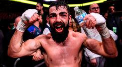 Jono Carroll after his bout with Tevin Farmer
