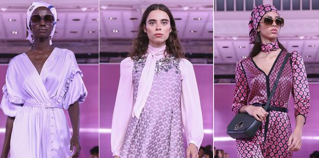 Kate Spade's purple-dominated SS19 collection