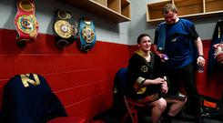 Katie Taylor: 'When I first discussed going pro with Brian (Peters) and Eddie (Hearn) the first thing I said to them was that I wanted to be the undisputed champion.' Photo: Stephen McCarthy / Sportsfile