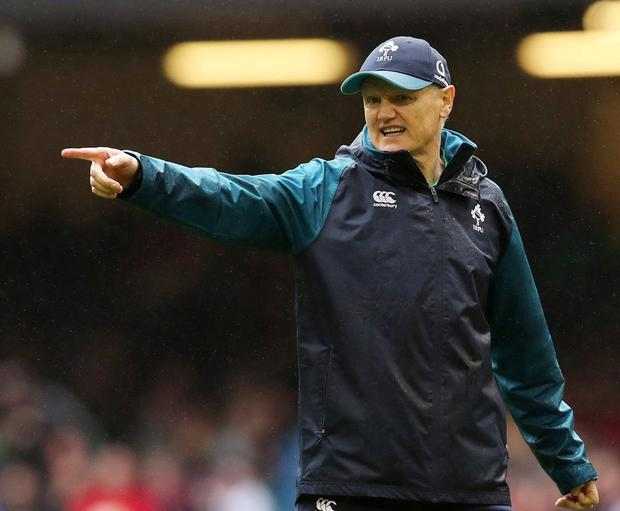 Joe Schmidt leaves with a blemish on his extraordinary record with Ireland: he has never won a Six Nations match in Cardiff. Photo: Peter Cziborra/Action Images via Reuters