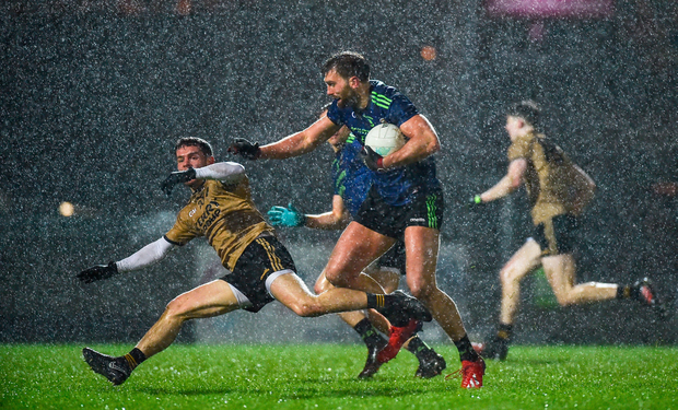 16 March 2019; Aidan O'Shea of Mayo in action against Tomás Ó Sé of Kerry during the Allianz Football League Division 1 Round 6 match at Austin Stack Park in Tralee, Co. Kerry. Photo by Diarmuid Greene/Sportsfile