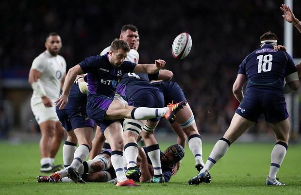 Scotland's Greig Laidlaw in action. Photo: Hannah McKay/Reuter