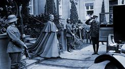 DANGEROUS TIMES: Above, Pius XII, who early in his career was papal nuncio to Germany