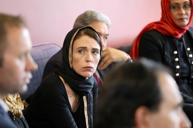 New Zealand Prime Minister Jacinda Ardern meets representatives of the Muslim community at Canterbury refugee centre in Christchurch. New Zealand Prime Minister's Office/Handout via REUTERS.