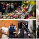 The live streaming on Facebook of the Christchurch atrocity, allegedly by Branton Tarrant (bottom left) has led to a string of demands for controls. NZ Prime Minister Jacinda Ardem (right)