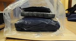 Approximately 9kg of cocaine with an estimated street value of in excess of €600,000 was discovered. Photo: An Garda Siochana