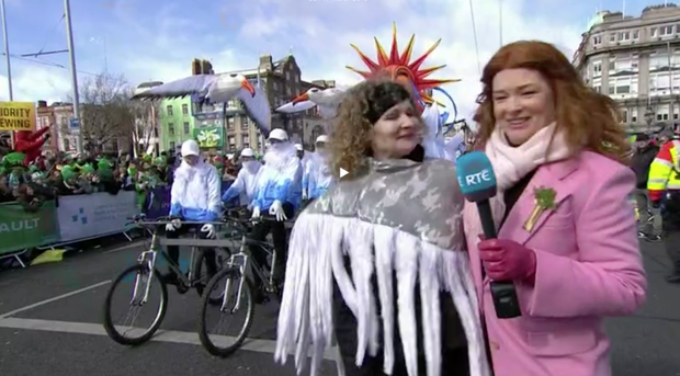 A spokesperson for St Patrick's Festival said that the teenagers were investigated and that no offence was intended. Photo: RTE player