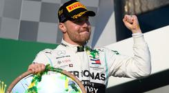 Bottas' capacity for lightning starts has never been in doubt. Image: AP Photo/Andy Brownbill