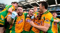 Celebrations: Corofin players toast their victory in Croke Park. Photo: Harry Murphy/Sportsfile