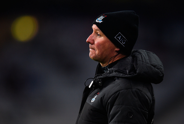 Dublin manager Jim Gavin during the match. Photo by David Fitzgerald/Sportsfile