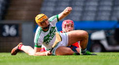 Fennelly firepower: Colin Fennelly celebrates after scoring the second goal for Ballyhale Shamrocks during their impressive victory over St Thomas' in Croke Park. Photo by Piaras Ó Mídheach/Sportsfile