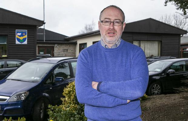 Worry: David O'Brien outside St Ultan's Special School in Navan, where he is a teacher – he crosses the Border every day to go to work. Photo: Kyran O'Brien
