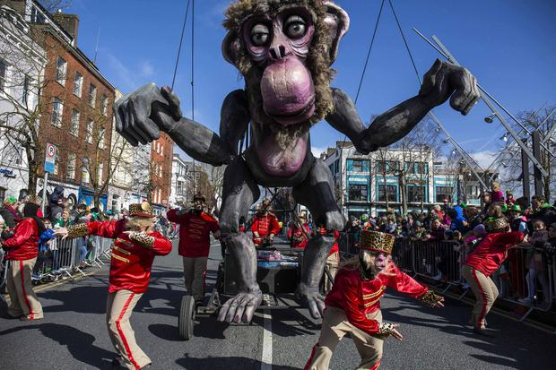 It's all monkey business in the steets of Cork city. Photo: Clare Keogh