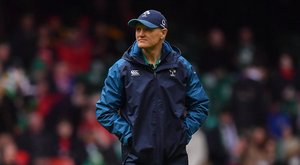 Ireland head coach Joe Schmidt prior to the Guinness Six Nations Rugby Championship match between Wales and Ireland at the Principality Stadium in Cardiff, Wales. Photo by Brendan Moran/Sportsfile