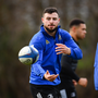 Robbie Henshaw looks set to miss Leinster's Champions Cup quarter-final against Ulster. Photo by Ramsey Cardy/Sportsfile