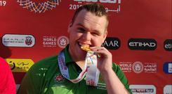 Oisin Feery won two medals at the Special Olympics.