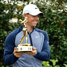 LOOKING FORWARD: Rory McIlroy with the trophy after winning the Players Championship at Ponte Vedra Beach. Photo: USA TODAY Sports