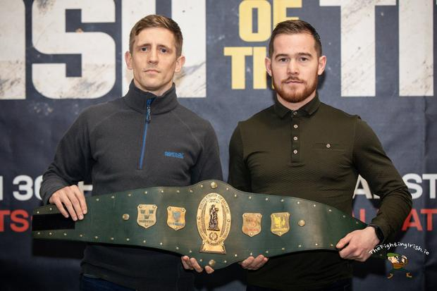 READY TO RUMBLE: Stephen McAfee and Eric Donovan will clash in the 'Clash of the Titans' card at the National Stadium on March 30
